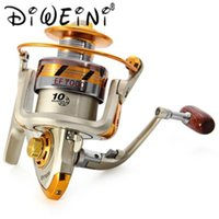 Metal Spool Spinning Reel Rueda de pesca EF500- 9000 Serie 10 Rodamiento de bolas 5.5: 1 Carretes de carpa Baitcasting