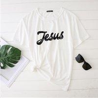 여성용 티셔츠 Seeyoushy 예수님 셔츠 여성 Tshirts 2021 셔츠 여성을위한 여성 간단한 옷 캐주얼 숙 녀 탑 Femme 짧은 소매 플러스