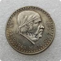 1948,1949 Messico 1 Peso Copia moneta commemorativa moneta-replica monete di medaglia Counte Countebles