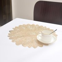 Mats & Pads Leaves Flowers Hollow Placemat Insulation Bowl Cup Heat Resistant Placemats Table Mat Home Kitchen Decor