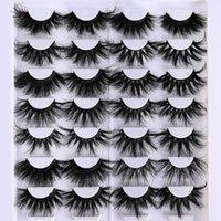 False Eyelashes 25MM Mink In Bulk Lashes Wholesale Fluffy Fake Full Strip Extension Thick Long 1 Lash