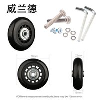 Bag Parts & Accessories Suitcase Equipment Wheel 360 Degree Rotation Replacement Luggage Repair Detachable Universal Casters