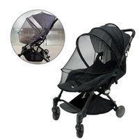 Wózki częściowe akcesoria uniwersalne pełne zakryte owad dla niemowląt Mosquito repellent sieć z podwójnymi zamkami do spacerowanych parasłowni samochodowych
