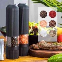 Molinillo de pimiento automático de pimientos eléctricos Plástico de cerámica de cerámica para especias Gadgets Máquina de café Herramientas de cocina 210712