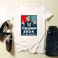 11 colores Trump 2024 Volveré la letra de la letra camiseta XS-4XL PLUS TAMAÑO DE TAMAÑO MUJER TAMAÑO TAMAÑO UNISEX UNISEX DEPORTE DE LA TAMAÑA DE LA TRAZAMIENTO DE LA CAMA DE LA TIPOS DE LA TIPOS DE LA TIPOS DE SUREJERO G503iky