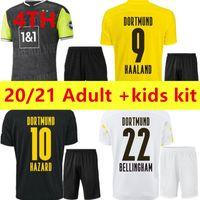 Haaland Reus Borussia 20 21 دورتموند لكرة القدم جيرسي 2021 الرابعة لكرة القدم قمصان Bellingham Sancho Hummels Brandt 4th الكبار الاطفال كيت مايوت دي القدم
