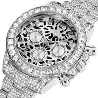 Наручные часы Pintime Creative Leopard Часы Мужчины Стальные Алмазные Удаленные Мужские Часы Топ Золотой Хронограф Спортивный Мужской Наручные Часы