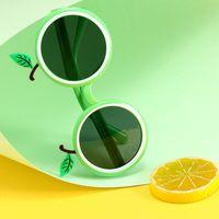 Karikatür çerçeve meyve şekilli çocuk polarize güneş gözlüğü