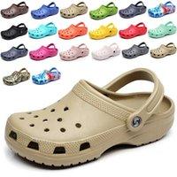 2021 yaz yeni takunya sandalet erkekler plaj sandalet crocks ayakkabı kadınlar düz dipli bahçe jöle serin bahçe ayakkabı
