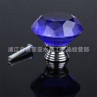 10 pçs / set 30mm diamante forma design de vidro maçanetas armário puxar cozinha armário porta guarda-roupa manipula hardware cristal alça 508 R2