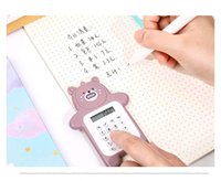 Dibujos animados linda oso calculadora de la moda coreana mini pequeña portátil para estudiantes de la escuela primaria