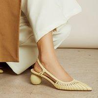 여성 2021 여름 샌들 양피 공황 구매로 특별한 모양의 신발
