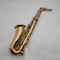 Юпитер JAS-769-II ALTO EB TUNE SAXOPHONE E Плоский музыкальный инструмент Латунный золотой лак покрытый SAX с корпусом и аксессуарами