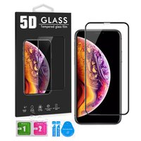 Iphone 5D Tempered Glass Full Body Cover Curved Film Screen Protector For Iphone12 Pro Max 11 X XR 8 7 6 6S Plus With Package