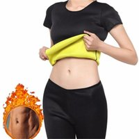 Women's Shapers Women Shaper Sweat T Shirt + Pants Thermo Shapewear Sauna Suit Waste Trainer Neoprene Tummy Slimming Corset