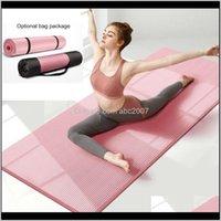 10 mm 15 mm NRB MATSLIP MUJER PARA FACTNESS Pilates extra gruesos Gimnasio Almohadillas de ejercicio Alfombra Alfombra de yoga Esterilla Tapete Mat 127A 7kdj2 FDAE5