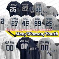 Мужские Дерек Джер Джей Лемахие Аарон Судья Джерси Мариано Rivera Babe Ruth Bernie Williams Женщины молодежь пользовательские бейсбольные майки