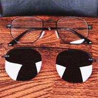 Sonnenbrille Vazrobe-Clip Polarisierte Männer Vintage Steampunk Sonnenbrille für mann magnetische Polaroidlinsen Polygon Marke fahren