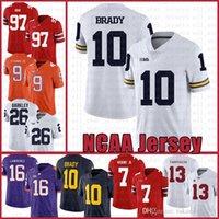 Michigan Wolverines 10 Tom Brady American Football Jersey 10 Tom Brady 97 Nick Bosa 26 SAQUON BARKLEY Jerseys DULLY DULT