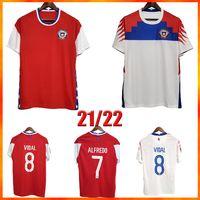 2021 Chile Soccer-Trikots Top Qualität Chilenisch-Zuhause weg 20 21 Vidal Alexis Sanchez Felipe Mora Erick Pulgar Football Shirts Männer Kurzarm Uniformen