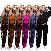 women clothing 2 Piece Set Zipper tracksuit pants Sweatshirt Pant Set Plus Size Tracksuit Two Piece Outfits Women casual set