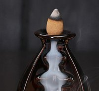 Keramikglasur Wasserfall Rückfluss Räucherhalter Home Decor 24 Stil Räucherkegel Burner Stick