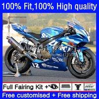 Fairings de injeção para Suzuki GSXR600 K11 GSXR750 23NO.0 GSXR 600 750 CC 600cc 11 12 13 14 15 16 17 GSXR-600 750CC 2011 2012 2013 2014 2015 2017 OEM Body Factory Blue