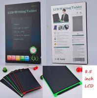 LCD 작성 태블릿 8.5 '인치 전자 드로잉 보드 필기 패드 펜 지우기 버튼 6 색 + 소매 상자