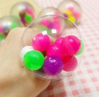 Squeeze Stress Bälle mit dna Bunte Perlen für Kinder Erwachsene Fansteck Rainbow Squishy Sensory Ball Hand Übung Werkzeug