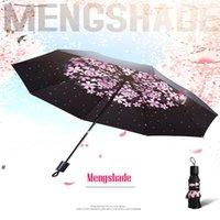 Parapluie Creative Femme Sun Multicolore Multicolor Personnalisé Logo Trois pliaux Protection Publicité Publicité Trésor Rain Parasol 100 * 65cm NHA5472