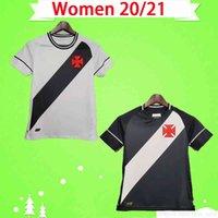 Mulheres 20 21 Club Vasco da casa fora Gama Jersey Girls 2020 2021 Maxi Rios Paulinho Fabiano Preto Branco Futebol Camisa Uniforme