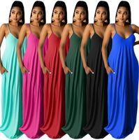 2021 verão womens maxi chão comprimento vestido um pedaço vestidos s-3xl mangas galus roupas de alta qualidade magro elegante luxo clubwear y759