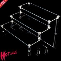 Clear Acrylic Display Stand Toy Car Model Purse Perfume Detachable Cartoon Character Ladder Frame Holder Cosmetics Storage Rack Other Home D