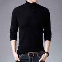 Men's Sweaters Mens Turtleneck 100% Wool Knitted Pullovers Fashion Slim Fit Winter Warm Sweater England Style Causal Men Clothing Y5HH