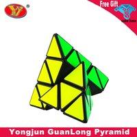 Yongjun Guanlong Pirámide 3x3 Magic Cube YJ 3x3x3 Cubo de velocidad para niños Juguetes Cubo Mágico Niños Educación Juguete