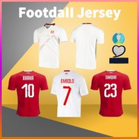 Швейцария Дом прочь Футбол Джерси 20 21 Seferovic Embolo Akanji Zakariaxhaha Футбольная футболка Мужчины футболки