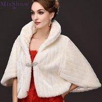 Winter Warm Bridal Fur Wraps Wedding Bolero Cheap Shawl Capes Plus Size Faux Shawls jackets