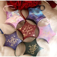 Gift Wrap 10pcs Five-pointed Star Box Wedding Favors And Gifts Boxes Candy Bags For Guests Decoration Baby Shower Party Supplies