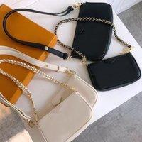 أكياس الكتف المركبة حقائب جلدية مخلب المرأة تنقش محفظة الأزياء سلسلة المحافظ سيدة crossbody handbag dicky0750 clamshell ميني رسول حقيبة