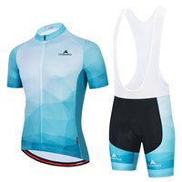 2021 라이트 블루 여름 프로 사이클링 저지 세트 통기성 팀 경주 스포츠 자전거 키트 망 짧은 자전거 clothings M36