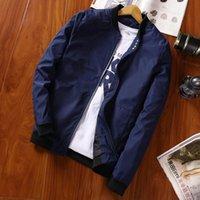 Herbst Herrenjacke Lässig Massivfarbe Slim Mantel Black Navy Red Grey Fashion Baseballjacke Marke Kleidung M-4XL
