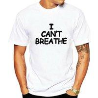 T-shirts Hommes JCGO Summer Cotton Femmes T-shirts 5XL Plus Taille Je ne peux pas respirer des lettres imprimer à manches courtes O Tops de cou TSHI TSHI