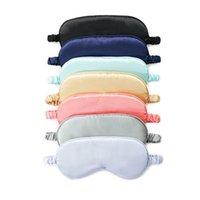 Máscara de sono para dormir máscaras de olho de seda blindfolds Mulberry Eyyeshade olhos cobrem atadura suave descanso ajuda