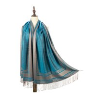 Elegante colorido suave Pashmina Bufanda de la bufanda de la bufanda de algodón impreso para dama