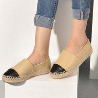 공장 직접 판매 여성의 Espadrilles 숙녀 캐주얼 신발 아파트 봄 가을 패션 진짜 정품 가죽 로퍼 슬립 온 플랫폼 구두 큰 크기 34-42