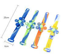 Silicone Poppers Bubbles Fidget Toys Summer Children's Mosquito Repellent Bracelet Revolving Tie Dye Anti Stress Relief Mosquitoes Bracelets For kids-TOPN603