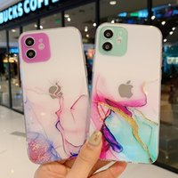 Fashion Clear Watercolor Phone Cases Transparent Soft Silicone for IPhone 13 Pro Max 12 11 X XR XS 7 8 Plus 13mini Protect Lens TPU Back Shell Cover