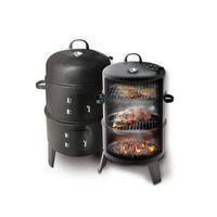 Griglie Modello innovativo metallo 3 in 1 BBQ Grill Grill Roaster Steamer Barbecue Portatile Stufa da campeggio all'aperto Camping