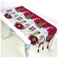Decorazioni natalizie 1 pz Anno 2022 Party Table Runner Merry for Home Kerst Navidad
