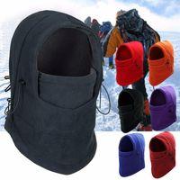 Cycling Caps & Masks Winter Warm Fleece Beanies Hats For Men Skull Bandana Neck Warmer Balaclava Face Warmming Wargame Cap Special Forces Un